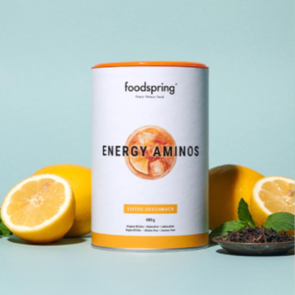 foodspring enegy aminos eistee